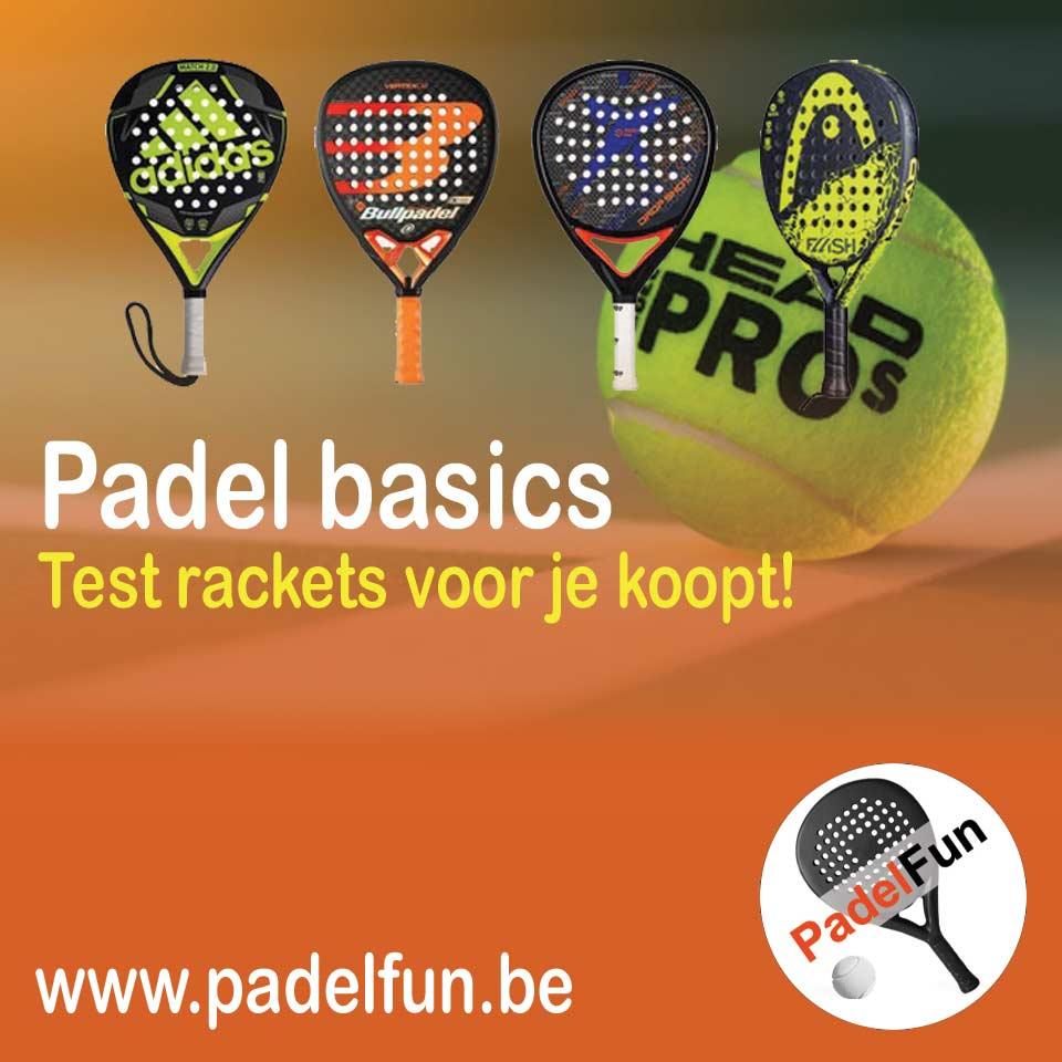Padel racket testen
