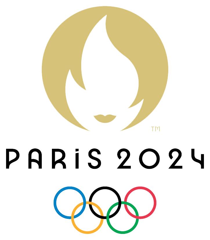 Het officiële logo van de Olympische Spelen 2024 in Parijs